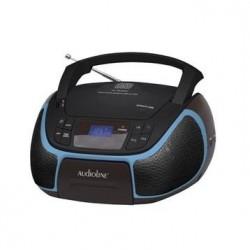 CD-96 BOOMBOX AUDIOLINE CD MP3 USB ΦΩΤ ΟΘΟΝΗ ΜΑΥΡΟ ΜΠΛΕ