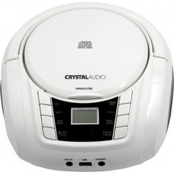 BMBU2W CRYSTAL AUDIO CD/MP3/FM/USB PLAYER WHITE