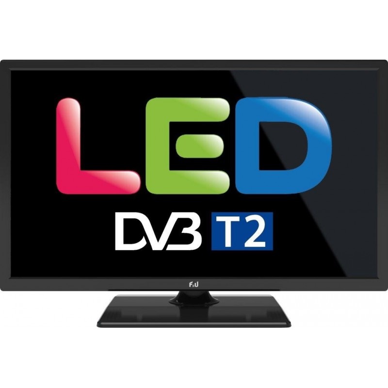 FL24110 F&U TV LED 24'' ΜΑΥΡΗ