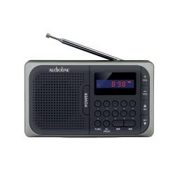 Audioline TR-210 USB-SD ΜΑΥΡΟ ΑΣΗΜΙ ΦΟΡΗΤΟ ΨΗΦ ΡΑΔΙΟΦΩΝΟ ΜΠΑΤΑΡΙΑΣ