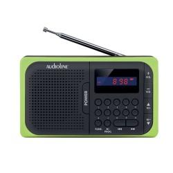 Audioline TR-210 USB-SD ΜΑΥΡΟ ΠΡΑΣ ΦΟΡΗΤΟ ΨΗΦ ΡΑΔΙΟΦΩΝΟ ΜΠΑΤΑΡΙΑΣ