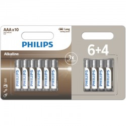 LR03A10BP/GRS PHILIPS AAA ALKALINE 6+4TMX BLISTER