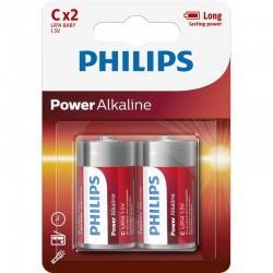 LR14P2B/GRS PHILIPS C POWER ALKALINE 2TMX BLISTER