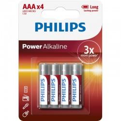LR03P4B/GRS PHILIPS AAA POWER ALKALINE 4TMX BLISTER