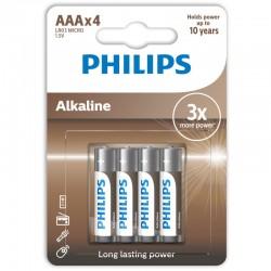 LR03A4B/GRS PHILIPS AAA ALKALINE 4 TMX BLISTER