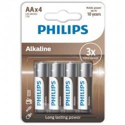 LR6A4B/GRS PHILIPS AA ALKALINE 4 TMX BLISTER