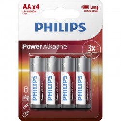 LR6P4B/GRS PHILIPS AA POWER ALKALINE 4 TMX BLISTER